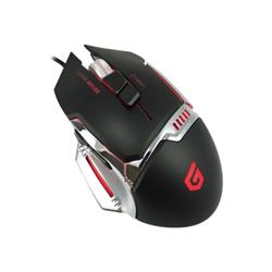 Conceptronic Mouse Djebbel 8 - mouse - usb - nero, argento djebbel02b