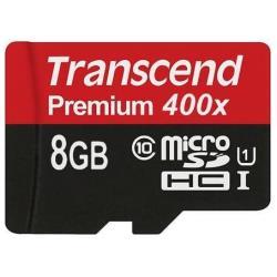 Transcend Micro SD Microsdhc class 10 uhs-i (premium) - scheda di memoria flash - 8 gb ts8gusdcu1