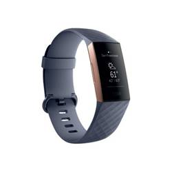 fitbit smartwatch charge 3 - oro rosa fb409rggy-eu