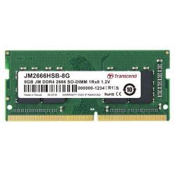 Transcend Memoria RAM Jetram - ddr4 - 8 gb - so dimm 260-pin - senza buffer jm2666hsb-8g