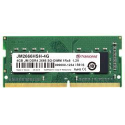 Transcend Memoria RAM Jetram - ddr4 - modulo - 4 gb - so dimm 260-pin - senza buffer jm2666hsh-4g