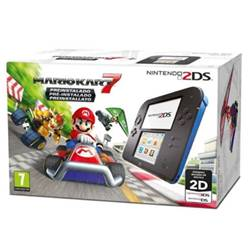 Nintendo Console 2DS Nero Blu + Mario Kart 7