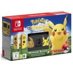 Nintendo Console Switch + Pokemon let's go Pikachu + Pokeball