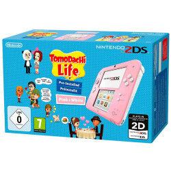 Nintendo Console 2DS Rosa Bianco + Tomodachi Life