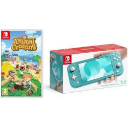 Nintendo Console Switch Lite Turquoise + Animal Crossing New Horizons + NSO 3 mesi