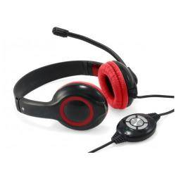Conceptronic Cuffie con microfono USB COMFORT STEREO HEADSET RED