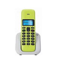 Motorola Telefono fisso Cordless t301 plus lemon lime