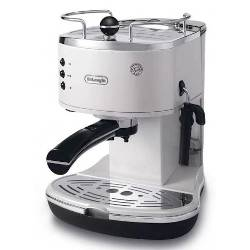 De Longhi Macchina da caffè Icona ECO 311.W Bianco Caffè macinato, Cialde ESE