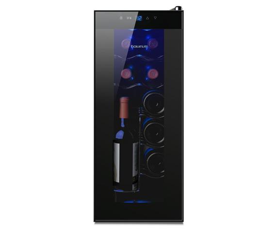 Taurus PTWC-12 cantina vino Libera installazione Nero 12 bottiglia/bottiglie Cantinetta termoelettrica