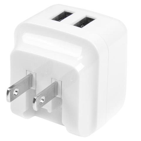 StarTech.com Caricabatterie da Muro a doppia porta x2 USB ad alta potenza ( 17W / 3.4 Amp ) con prese da viaggio (Internazionale) - bianco
