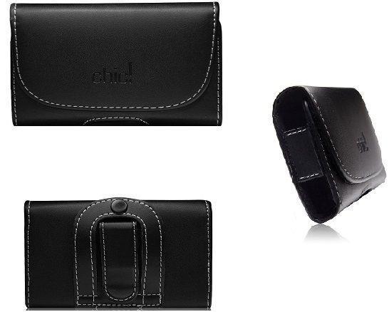 Ozzzo Custodia In Pelle Caso Case Cover Cintura Orizzontale Nero Per Asus Zenfon 2 Deluxe Ze551Ml