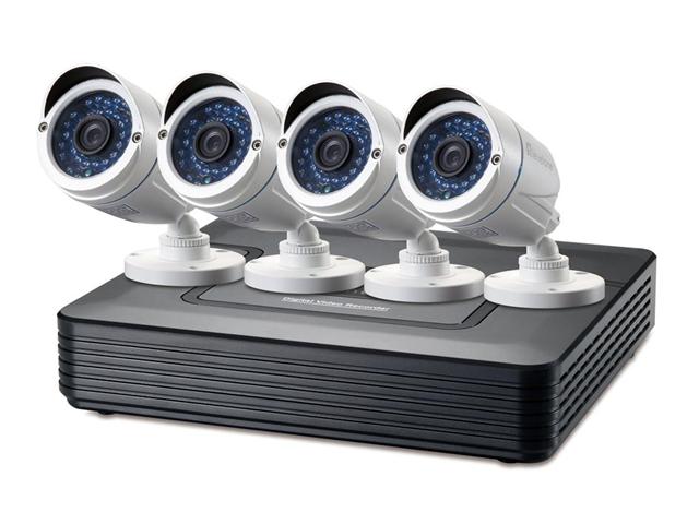 LevelOne DSK-8001 kit di videosorveglianza Cablato 4 canali