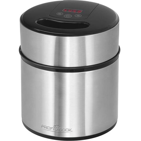 ProfiCook 501140 macchina per gelato 1,8 L Nero, Acciaio inossidabile 12 W