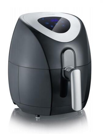 Severin FR 2430 friggitrice Friggitrice ad aria calda 3,2 L Singolo Nero, Acciaio inossidabile Indipendente 1500 W