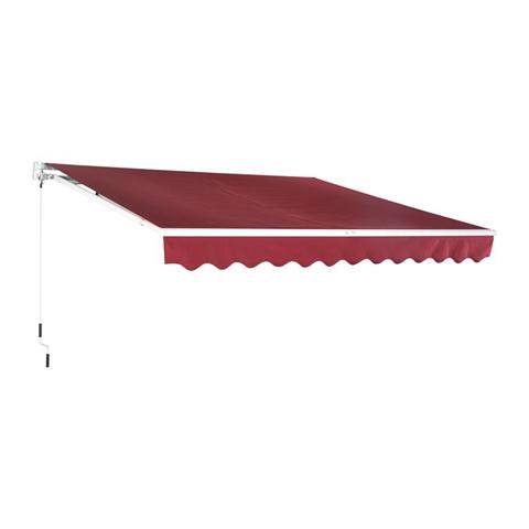 Tenda da Sole Avvolgibile per Giardino Balcone Impermeabile in Poliestere Rosso Bordeaux 32,5m