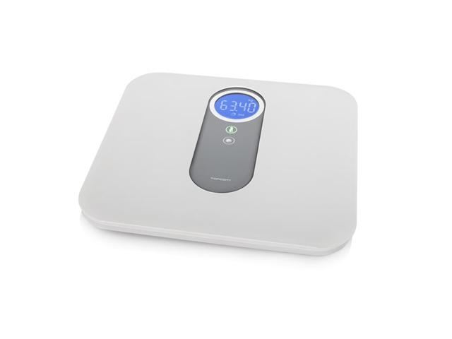Topcom WG-2495 bilance pesapersone Bilancia pesapersone elettronica Quadrato Grigio, Bianco