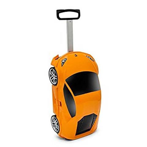 Trolley Lamborghini Arancione 49x27x22 Cm Accessori Viaggio Scuola Tempo Libero