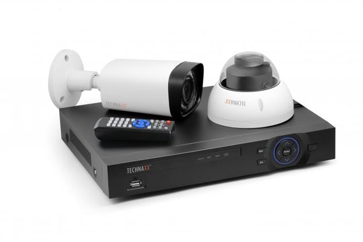 Technaxx Maxi Security Kit PRO Cablato 4channels kit di videosorveglianza