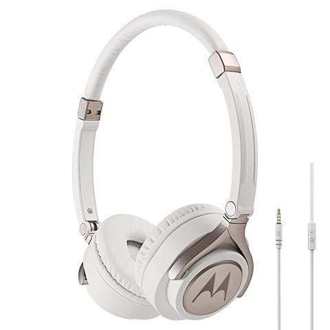 Motorola Pulse 2 auricolare per telefono cellulare Stereofonico Padiglione auricolare Bianco Cablato