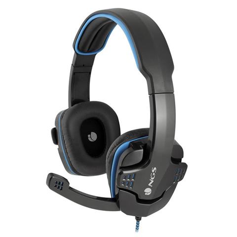 NGS GHX-505 Padiglione auricolare Stereofonico Cablato Nero, Blu auricolare per telefono cellulare