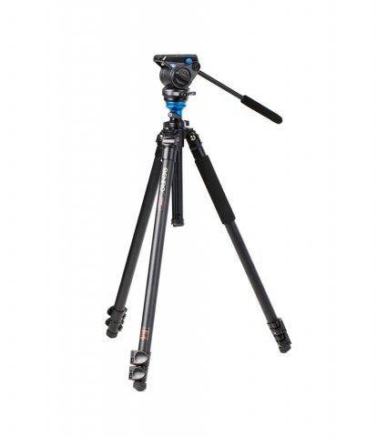 Benro Cavalletto Treppiede Foto-Video A-1573 Fs2 Kit C/Testa S2 Bnr A1573Fs2