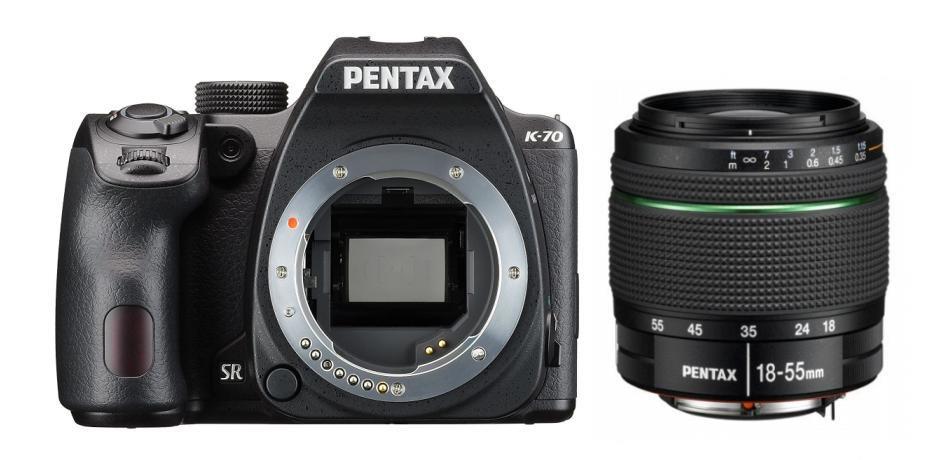 Pentax K-70 + 18-55 WR Kit fotocamere SLR 24,24 MP CMOS 6000 x 4000 Pixel Nero