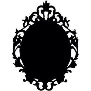 Princess HOMEMANIA Lavagna Sticker Princess. Da Parete, Muro. Per Soggiorno, Camera. Nero in Vinile, 50 x 0,1 x 40 cm