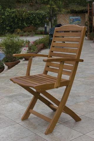 Poltrona sedia imperiale in legno 2pz pieghevole arredo esterno giardino casa