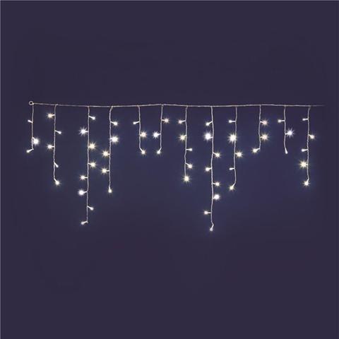 Tenda Ice Light 66led Trasp 270x80cm Prolung Luce Bianca Calda-Gioco Luce-Esterno
