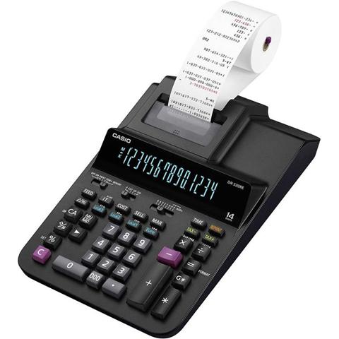 Casio Calcolatrice da tavolo scrivente Casio DR-320RE Nero Display (cifre): 14 rete elettrica (L x A x P) 205 x 84 x 341 mm