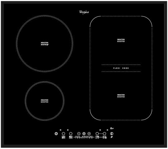 Whirlpool ACM 808/BA piano cottura Nero Da incasso A induzione 4 Fornello(i)
