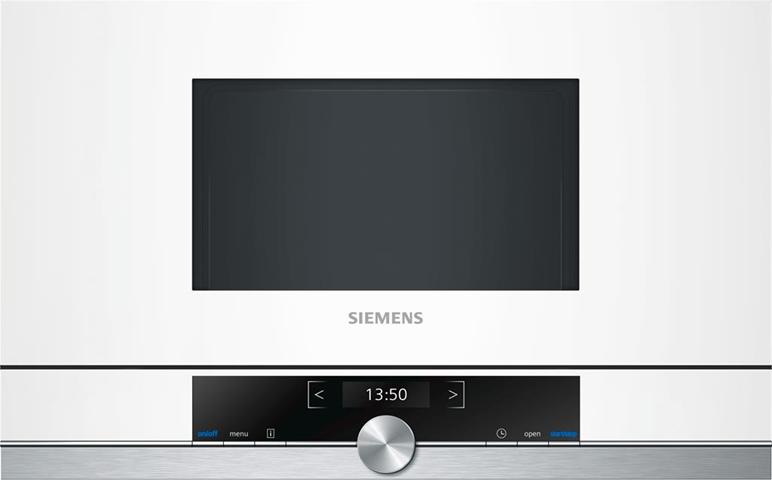 Siemens BF634LGW1 forno a microonde Incasso Solo microonde 21 L 900 W Bianco