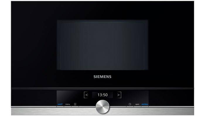 Siemens BF634RGS1 forno a microonde Incasso 21 L 900 W Nero, Argento