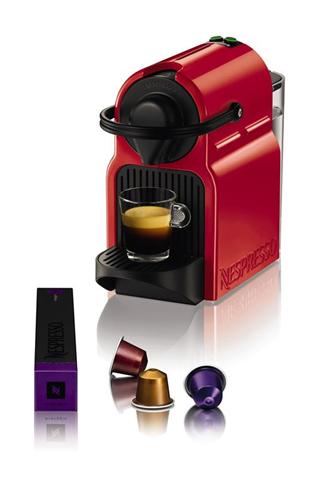 Krups Inissia XN1005 Ruby Red Macchina per caffè a capsule 0,7 L