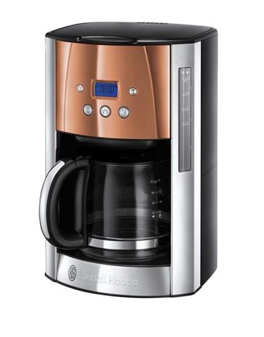 Russell Hobbs 24320-56 macchina per caffè Libera installazione Macchina da caffè con filtro Nero, Bronzo, Argento 1,8 L 14 tazze