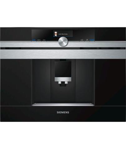 Siemens CT636LES1 macchina per caffè Incasso Macchina per espresso Nero, Acciaio inossidabile 2,4 L 1 tazze Automatica