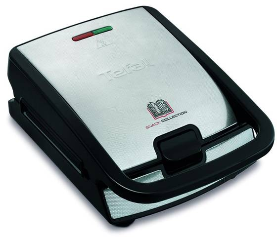 Tefal Snack Collection SW 852 D tostiera 700 W Nero, Acciaio inossidabile