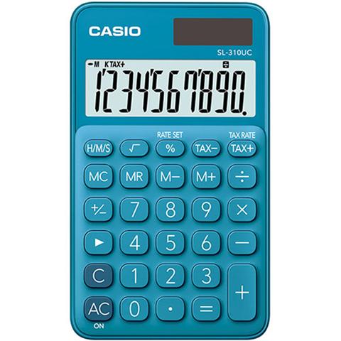 Casio SL-310UC-BU calcolatrice Tasca Calcolatrice di base Blu