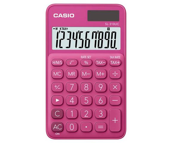 Casio SL-310UC-RD calcolatrice Tasca Calcolatrice di base Rosso