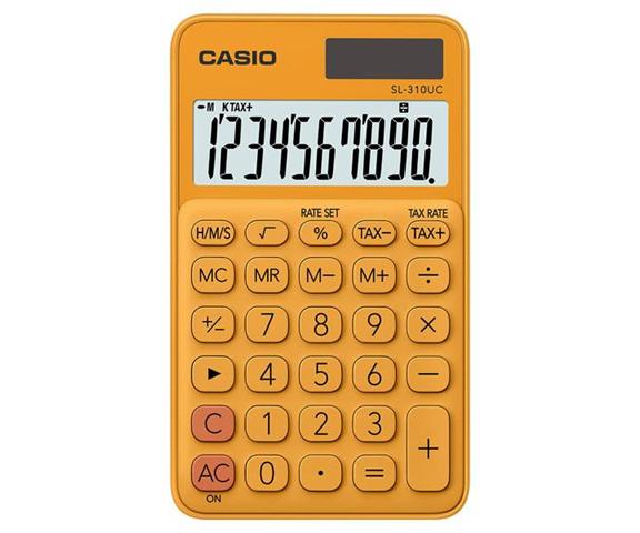 Casio SL-310UC-RG calcolatrice Tasca Calcolatrice di base Arancione