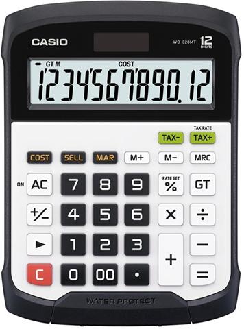 Casio WD-320MT calcolatrice Scrivania Calcolatrice finanziaria Nero, Bianco