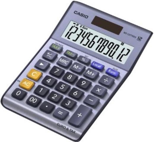 Casio MS-120TERII calcolatrice Scrivania Calcolatrice di base Nero, Blu, Grigio