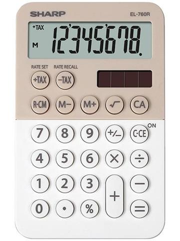 Sharp EL-760R calcolatrice Scrivania Calcolatrice finanziaria Beige, Bianco