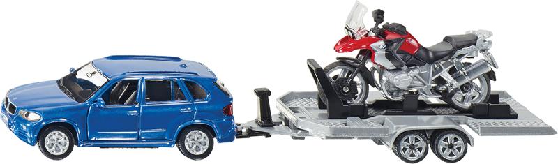 Die Cast Auto con Rimorchio Moto (2547)