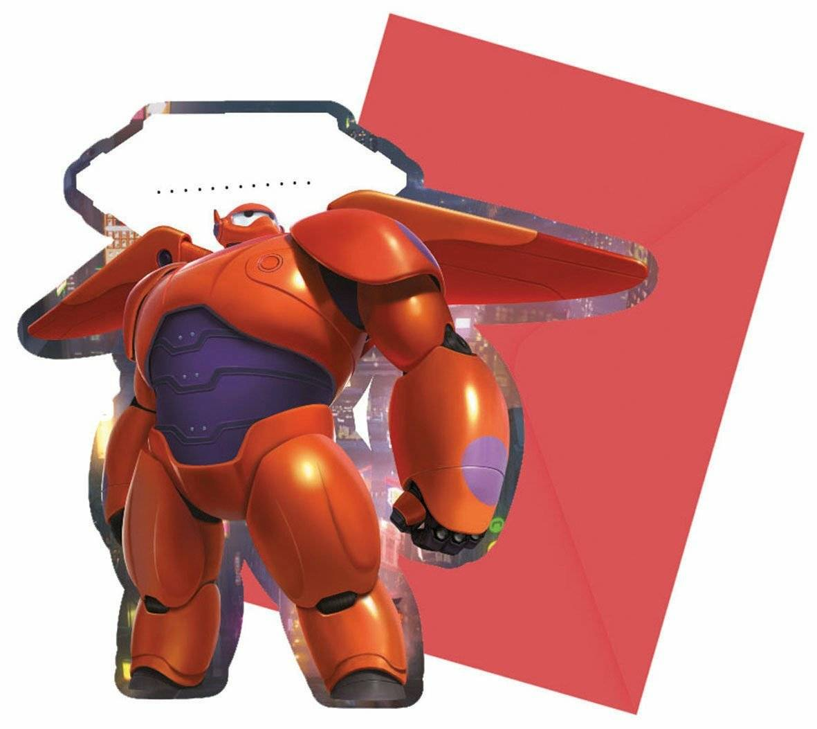 6 Inviti con Busta Big Hero 6: prezzo