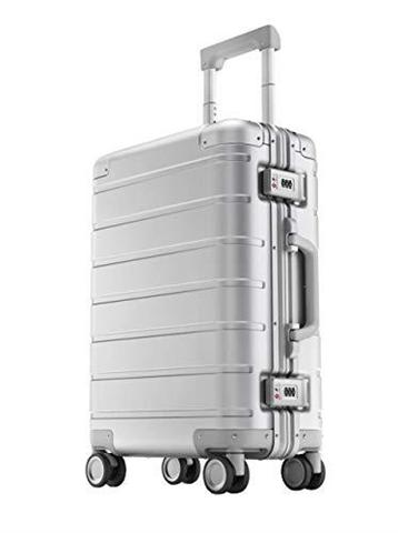 Xiaomi Metal Carry on Luggage 20 Trolley Rigido con 8 Ruote, 55 cm, Dimensioni Standard per Cabina Aereo, Lucchetto TSA, 31 litri, Argento