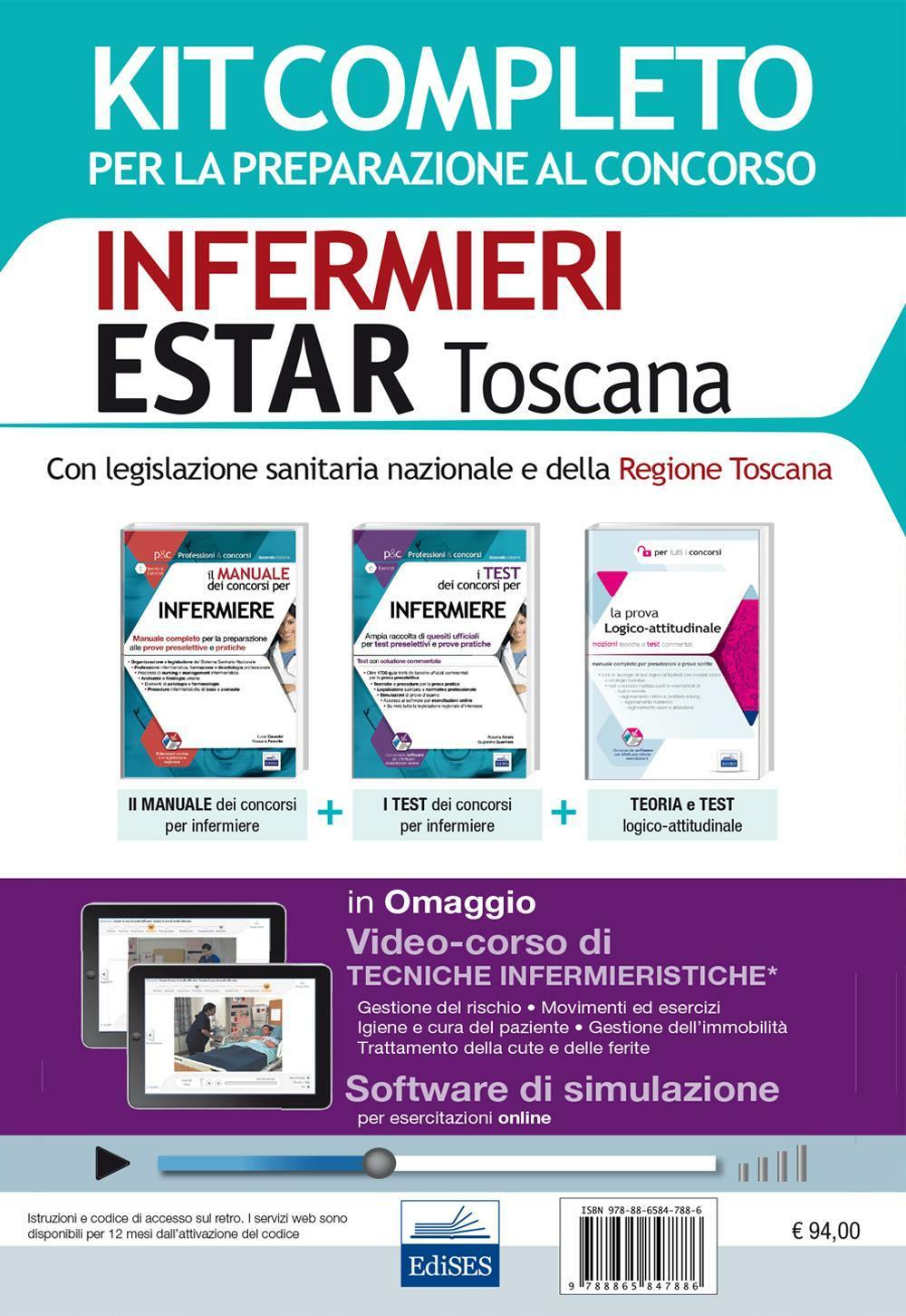 Concorso Infermieri Estar Toscana. Kit completo per tutte le prove del concorso 2016 e software di simulazione. Con e-book ISBN:9788865847886