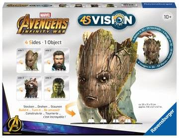 Infinity 4S Vision. 4S Avengers Infinity War Groot & Co. Ravensburger 4S Vision Avengers Infinity War Groot & Co. puzzle 3D