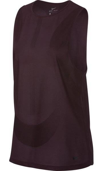 nike zonal cooling - canotta fitness - donna - dark red