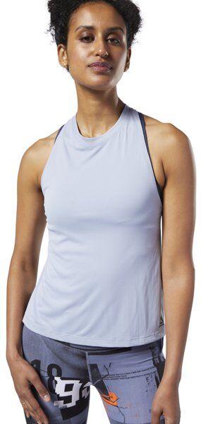 reebok workout ready myt poly - canotta fitness - donna - light grey